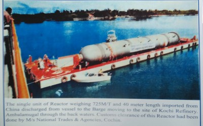 Customs clearance of 725 M/T Reactor